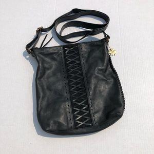  Lucky Brand  Black Leather Crossbody 